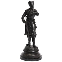 Russian Bronze Cossack Figure Statue