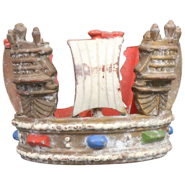 British Royal Navy Mast Crown For Sale at 1stdibs
