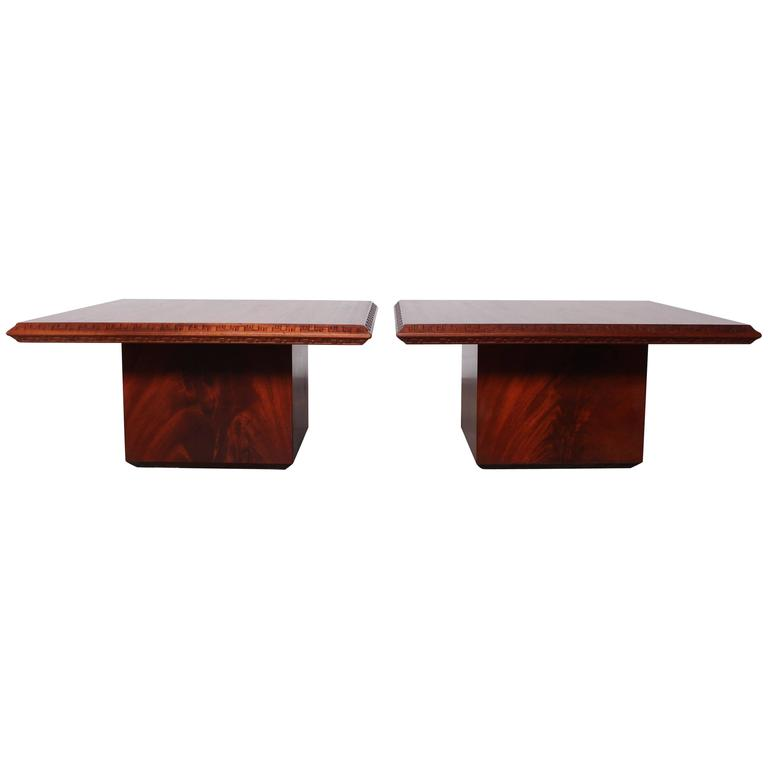 Pair Of Frank Lloyd Wright Tables For Heritage Henredon For Sale At 1stdibs