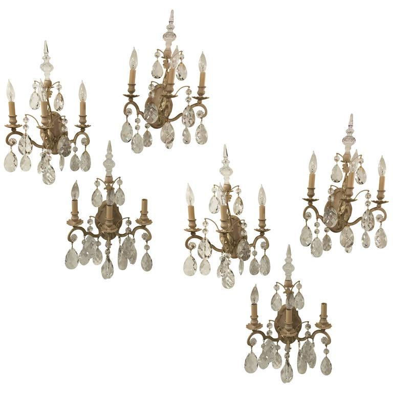 monumental german schonbek painted brass and crystal chandelier for