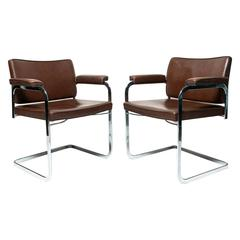 Robert Haussmann Flat Bar Chairs for De Sede