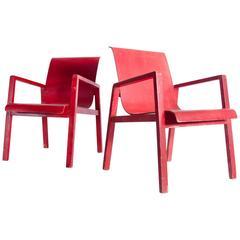 Pair of Alvar Aalto No 51/403 Hall Chairs