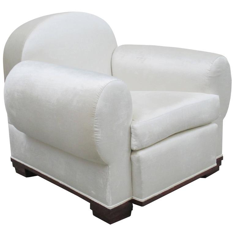 "Art Deco ""Elephant"" Upholstered Armchair by Pierre de la Londe"