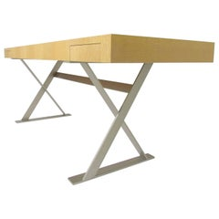 Sleek Modernist Campaign Style Writing Desk by Antonio Citterio for B & B Italia