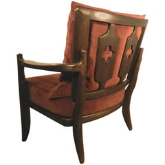 "Guillerme and Chambron, Oak Armchair ""José"", Edition Votre Maison"