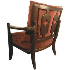 """Guillerme and Chambron, Oak Armchair """"José"""", Edition Votre Maison"""