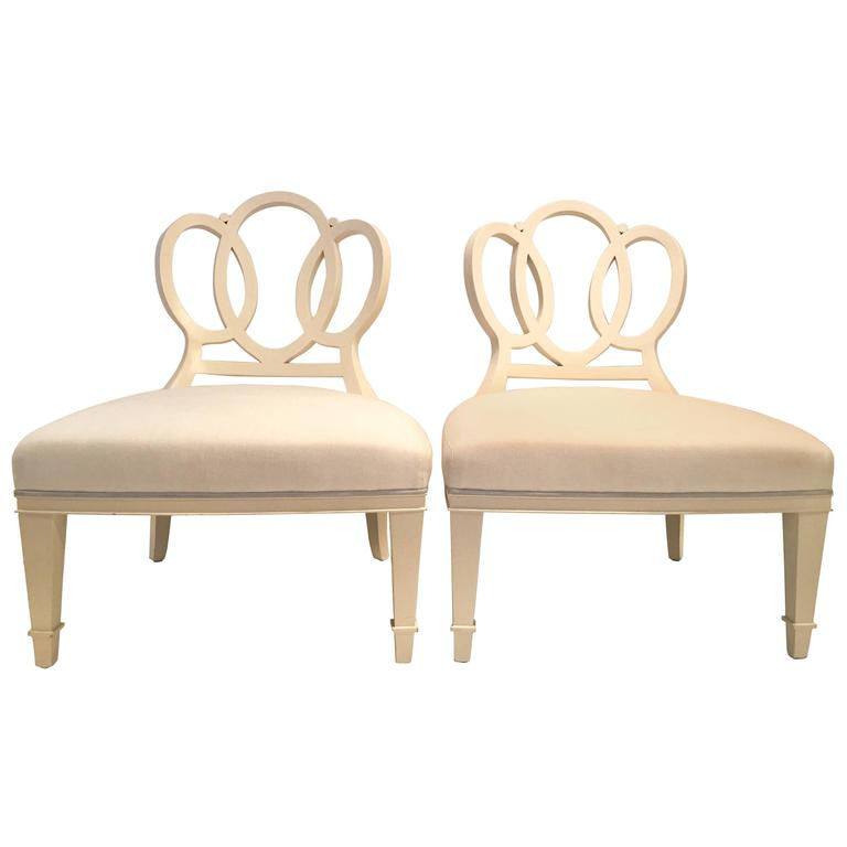 """Barbara Barry for Henredon """"Bracelet Chair"""" Pair of Two at"""