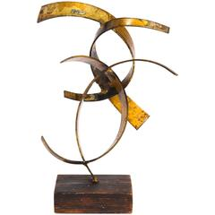 Abstract Metal Sculpture by William Bowie