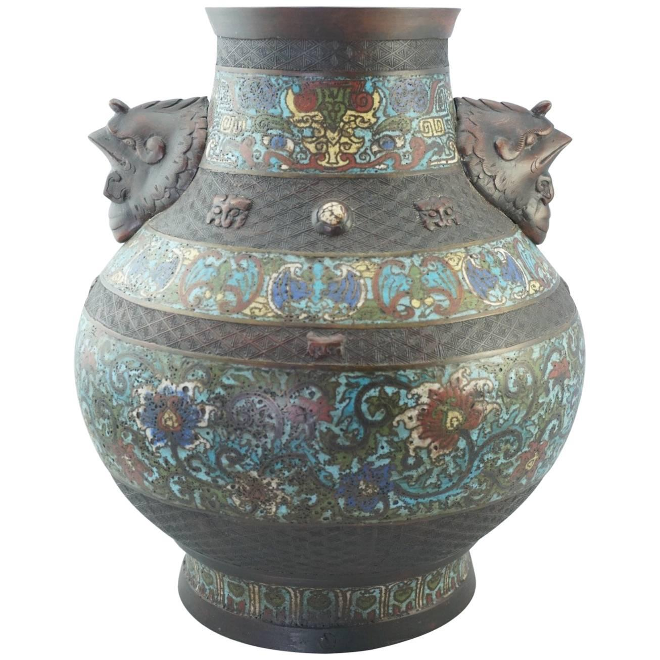 Chinese export vases and vessels 167 for sale at 1stdibs qing chinese cloisonne bronze decorated vase 19th century reviewsmspy