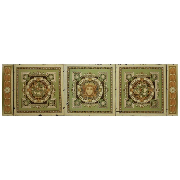 Art Nouveau Five Enamel Panel Drug Store Front