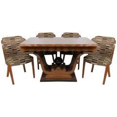 Deco Style Dining Table with Four Dining Chairs