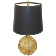 Bullicante Glass Ribbed Ball Lamp by Vetreria Archimede Seguso