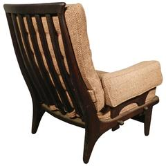 Guillerme et Chambron, 1970 Oak Armchair Edited by Votre Maison