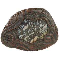 Art Nouveau Tiffany Studios Mosaic Bronze and Glass Paperweight