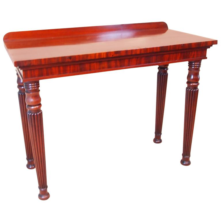 this antique regency mahogany console hall table is no longer