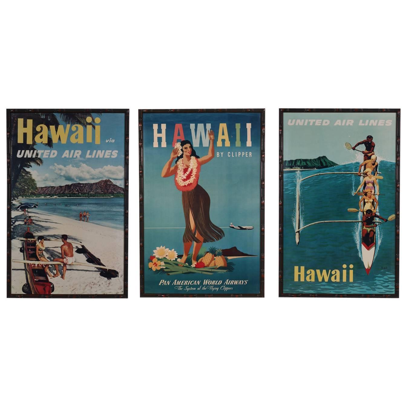 Cheap Posters Yosemite United Air Lines Vintage Travel Poster: Set Of Three All Original Vintage Hawaii Travel Posters