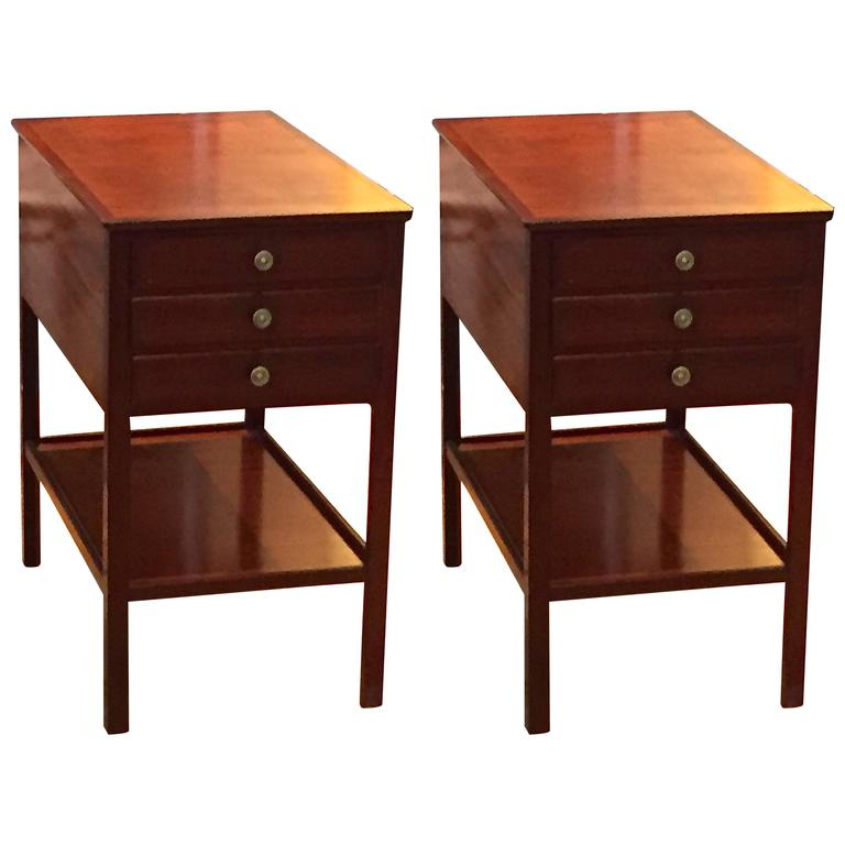 Rare Pair of Ole Wanscher End Tables for AJ Iversen For Sale