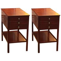 Rare Pair of Ole Wanscher End Tables for AJ Iversen
