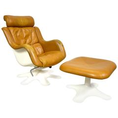 "Yrjö Kukkapuro ""Kaeuselli"" Lounge Chair and Ottoman"