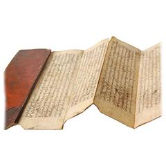 19th Century Burmese Red Lacquered Fortune Telling Script