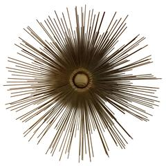 Mid-Century Curtis Jere Brass Sunburst Wall Sculpture