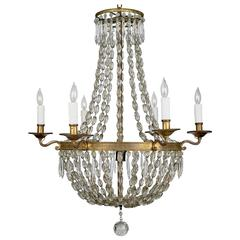 French 19th Century Crystal Chandelier