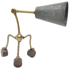 20th Century French Bronze and Zinc Table Lamp