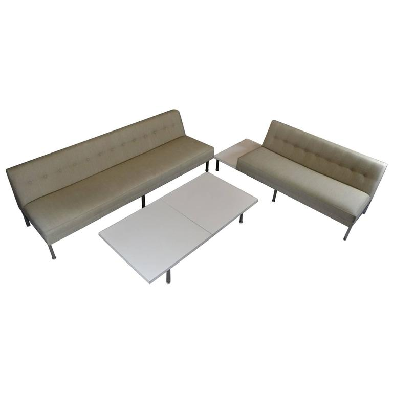 modular system seating sofa set by george nelson for herman miller at 1stdibs. Black Bedroom Furniture Sets. Home Design Ideas
