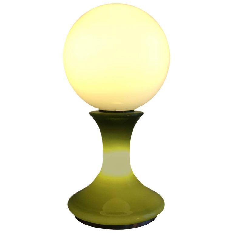 1970 Space Age Mazzega Glass Floor Lamp