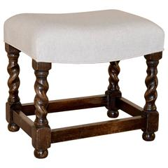 19th Century English Small Swayed Top Stool