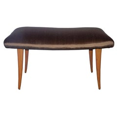 Robsjohn-Gibbings Bench in Bronze Silk