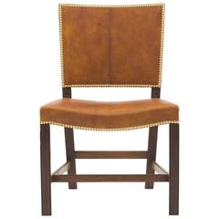 Set of 12 Red Chairs by Kaare Klint, 1920s