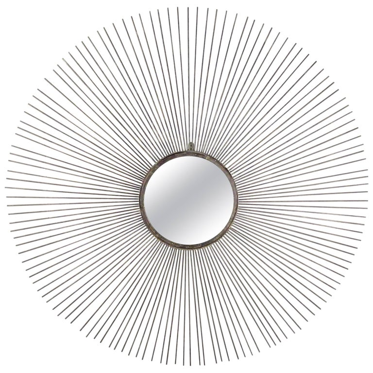 Contemporary Modern Starburst Wall Mirror For Sale