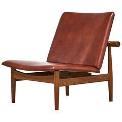 Finn Juhl for France & Sons Japan Chair, Model 137 in Leather, 1950s