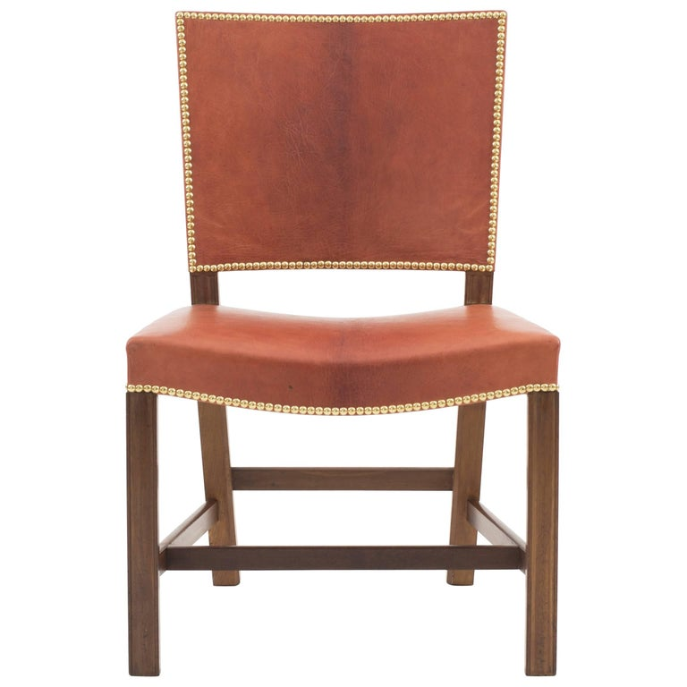 Kaare Klint Red Chair, Rud. Rasmussen, 1930s For Sale