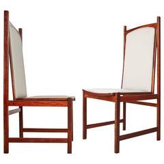 Celina Moveis Brazilian Mahogany Side Chairs, Pair, circa 1960
