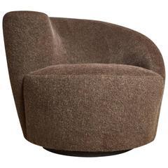 Vladimir Kagan Nautilus Swivel Chair for Directional, Restored