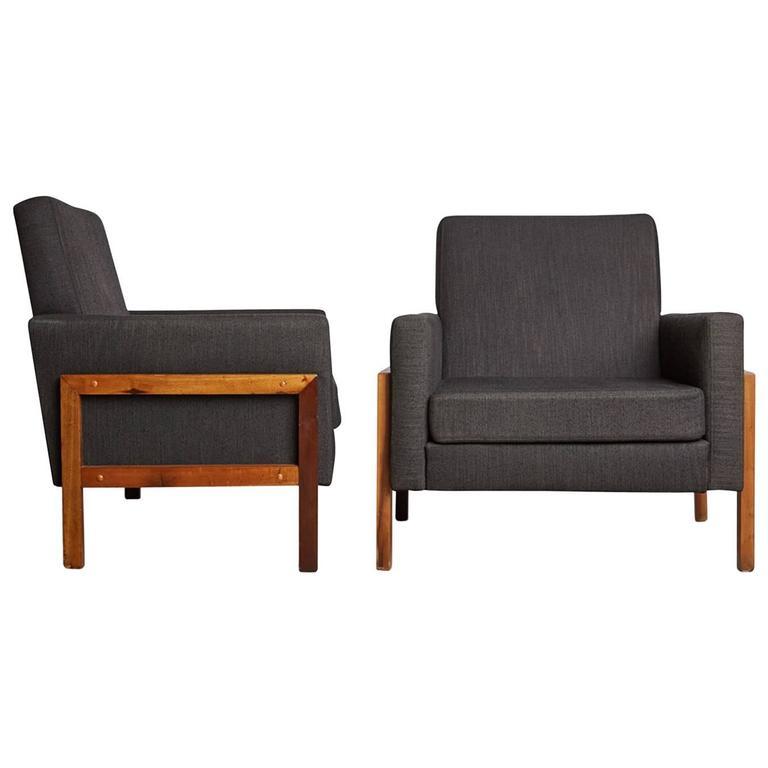 brazilian wood furniture. Pair Of Brazilian Baruna Wood Lounge Chairs, Circa 1960 For Sale Furniture R