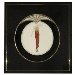 """Erte Framed Collector Plate """"LE SOLEIL"""""""