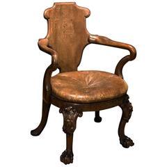 English Walnut Armchair