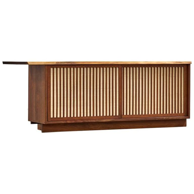 George Nakashima Two-Door Walnut Cabinet, 1960s