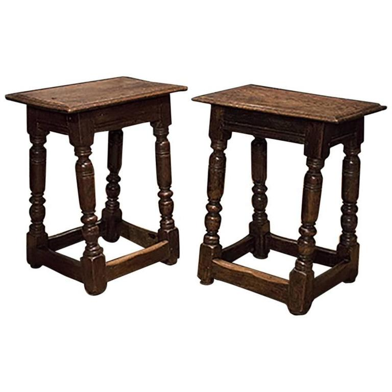 English Pair of Joint Stools 1