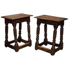 English Pair of Joint Stools