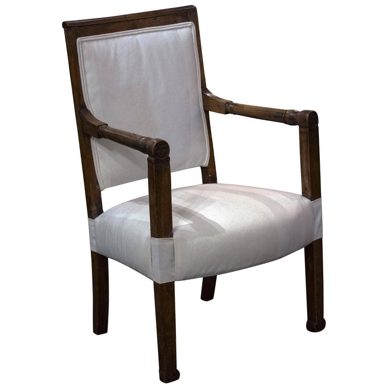 French Cherrywood Fauteuil  1