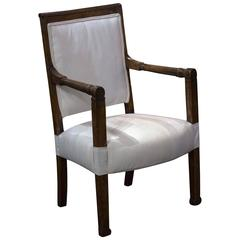 French Cherrywood Fauteuil