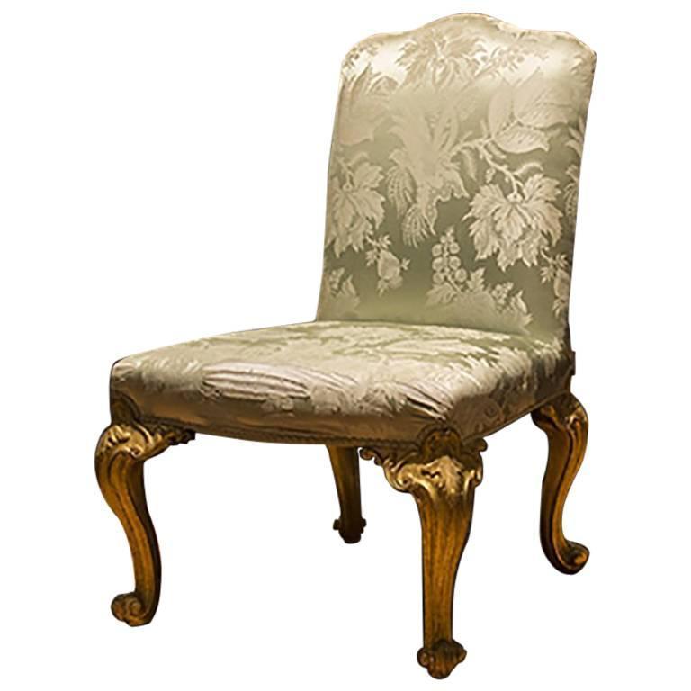 English Giltwood Chair  1