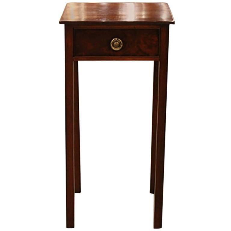 English Square Mahogany Side Table 1