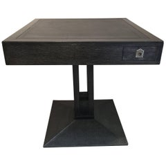 Secessionist Game Table in Gray Cerused Oak