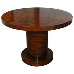 Modern Round Mahogany Pedestal Table