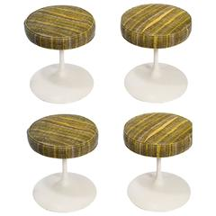 Four 1960s Metal Base Stools